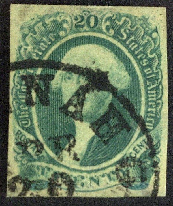 172: Confederate Stamp 20 Cent WASHINGTON - (CSA # 13)