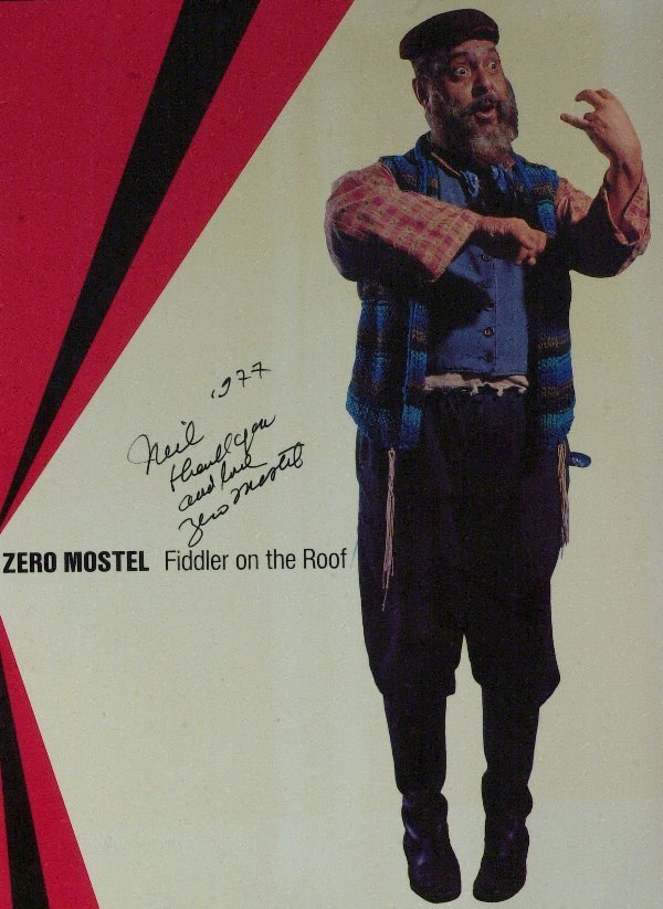 588: Fiddler Actor ZERO MOSTEL - Program Signed Twice