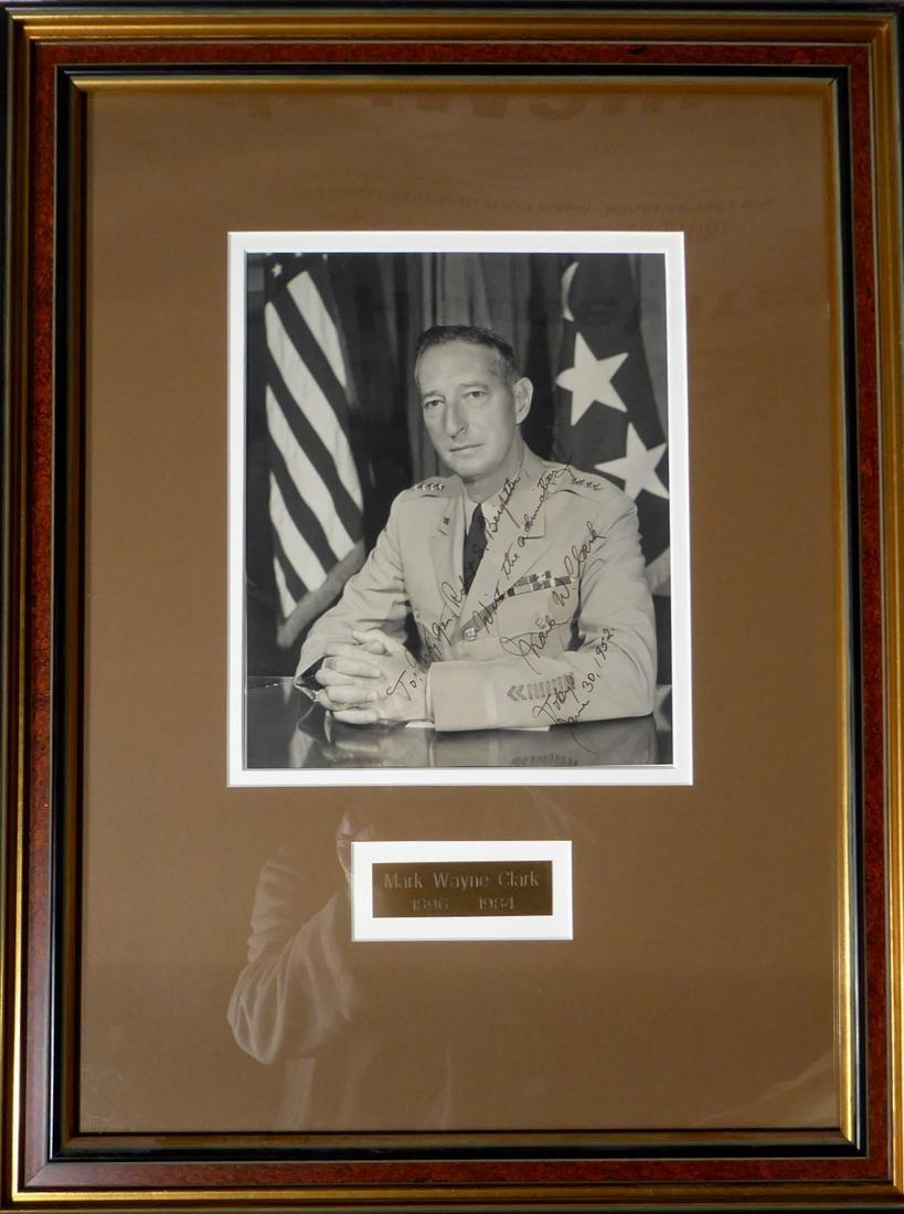 General MARK CLARK - Photo Signed, Framed