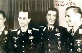 German Air Ace GUNTHER RALL - Photo Signed