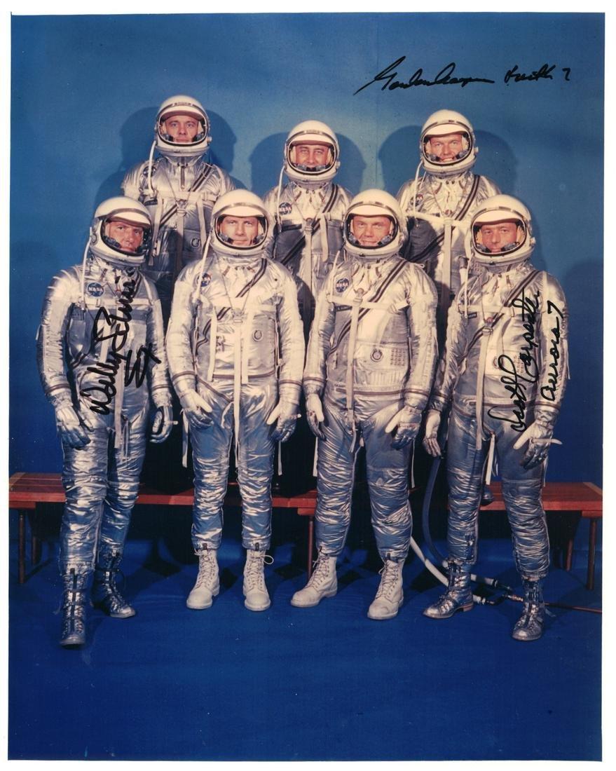 Mercury COOPER, SCHIRRA and CARPENTER - Photo Signed