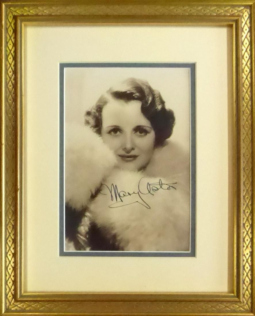 Actress MARY ASTOR - Photo Signed, Framed