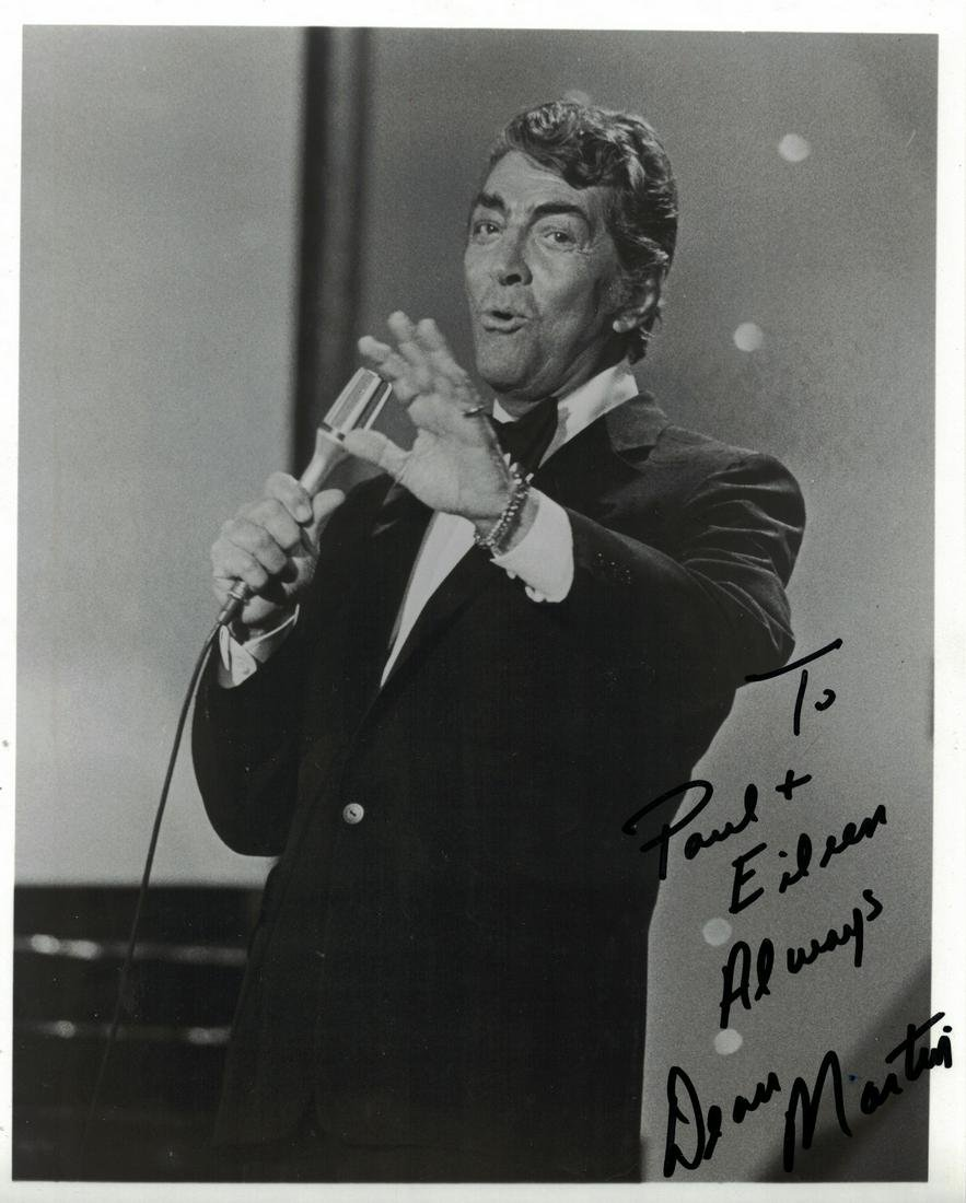 Singer, Actor DEAN MARTIN -  Photo Signed