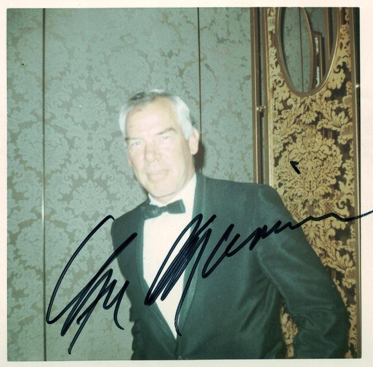 Actor LEE MARVIN - Photo Signed