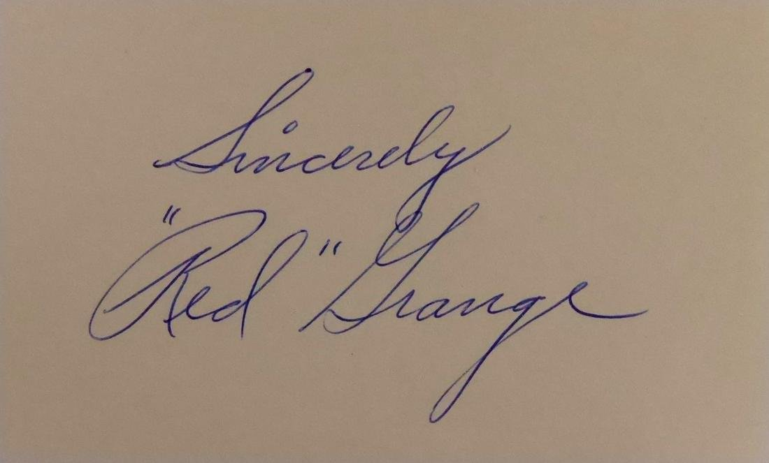 """""""Galloping Ghost"""" RED GRANGE - Card Signed"""