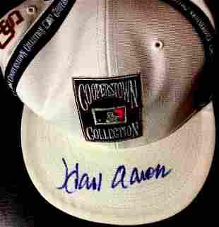 Braves Great HANK AARON Signed Cap