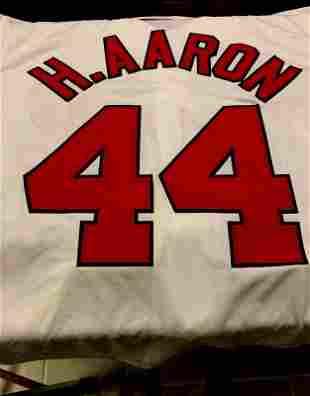 Baseball Great HANK AARON Signed Jersey