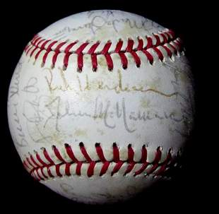 1987 A.L.All Stars Over 25 Signatures Signed Ball