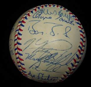 1996 N.L.All Stars Over 25 signatures Signed Ball