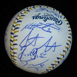 2016 A.L.All Stars Over 20 Signatures Signed Ball