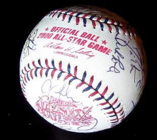 2000 A.L.All Stars Over 25 Signatures Signed Ball