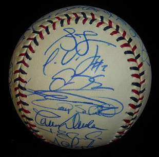 2000 N.L.All Stars Over 30 Signatures Signed Ball