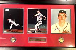 MADDUXSMOLTZ  GLAVINE SignedFramed Photos