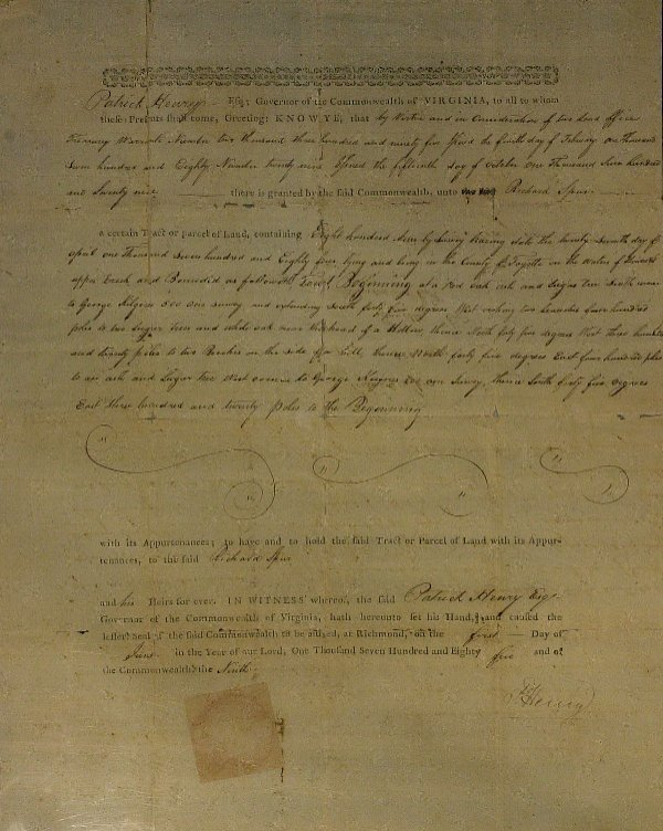 6: Rev War Orator PATRICK HENRY - Document Signed