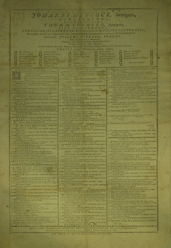 9: Patriot (JOHN HANCOCK) - Harvard Broadside 1783