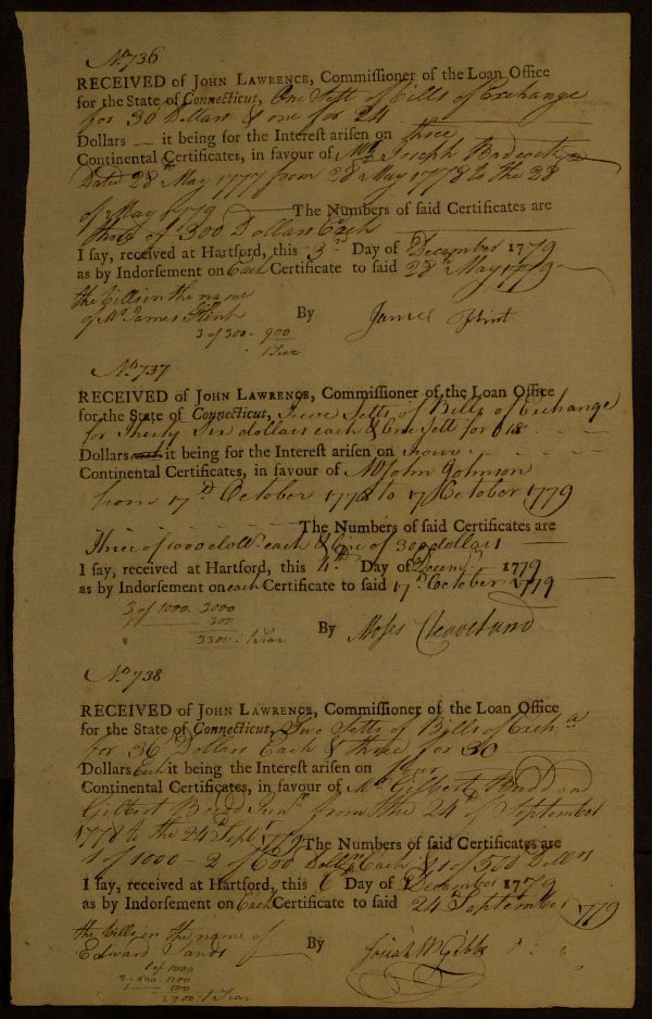 15: Pioneer MOSES CLEAVELAND - Doc Signed 1779