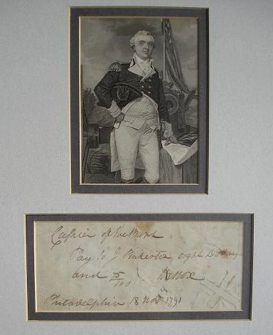 20: Rev War General HENRY KNOX - Check Signed