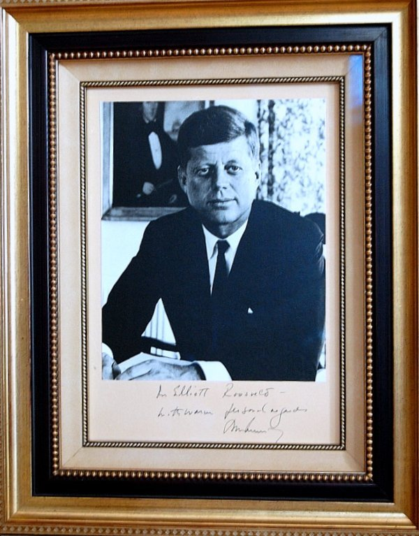 75: President JOHN KENNEDY - White House Photo Signed