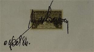 474: Gen MARK CLARK & MATTHEW RIDGWAY- Stamps Sgn