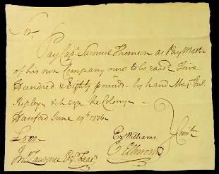 Supreme Ct Chief Justice OLIVER ELLSWORTH - 1776