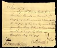 Constitution Framer OLIVER ELLSWORTH - 1777 Payorder