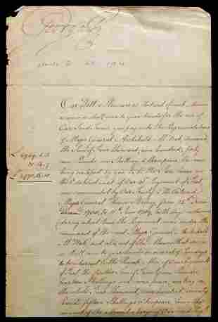 British Monarch GEORGE III - 1792 Document