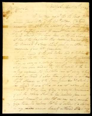 Washington Aide de Camp DAVID HUMPHREYS -ALS 1790