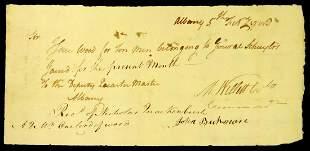 Soldier, New York Mayor MARINUS WILLETT - 1783 Document