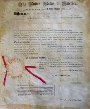 JAMES MONROE & JOHN QUINCY ADAMS - Patent
