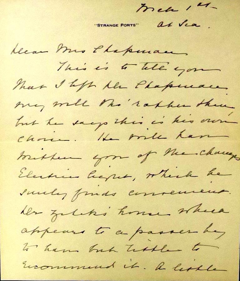 First Lady EDITH K ROOSEVELT - ALS