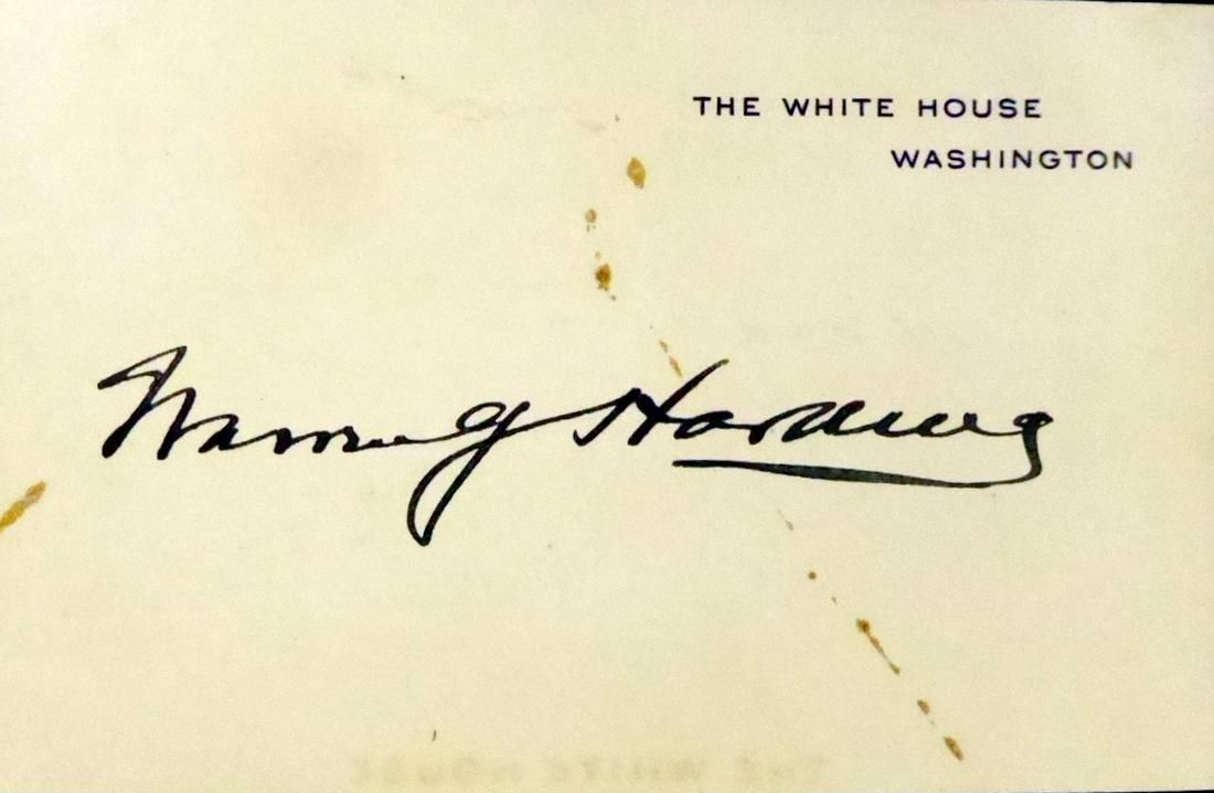 29th Pres WARREN G HARDING - WH Card