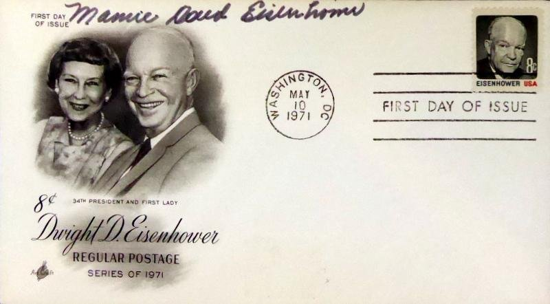 First Lady MAMIE EISENHOWER - Postal Cover