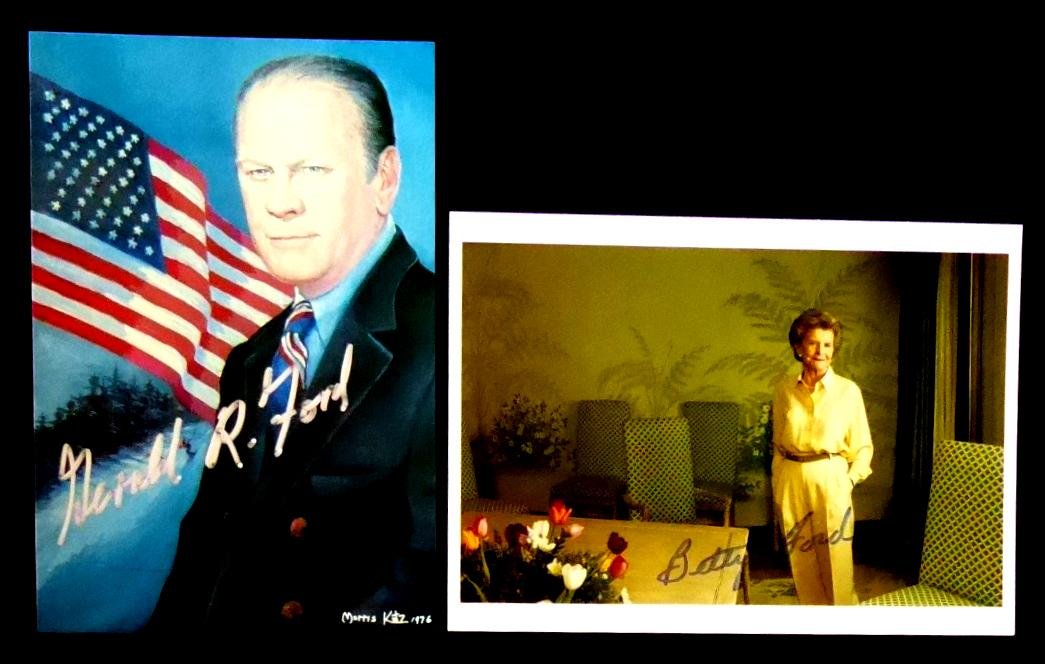 Pres GERALD and First Lady BETTY FORD - Photos Signed