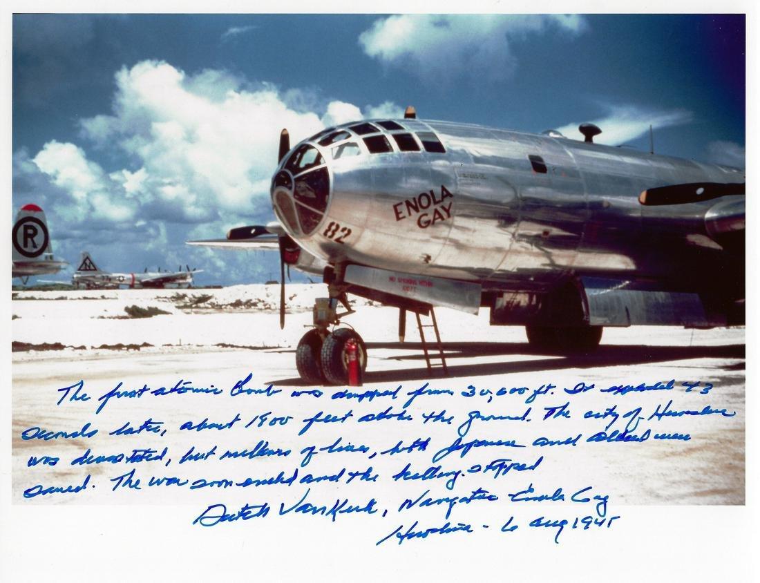 "Aviator ""DUTCH"" VAN KIRK - Bombing Mission Statement"