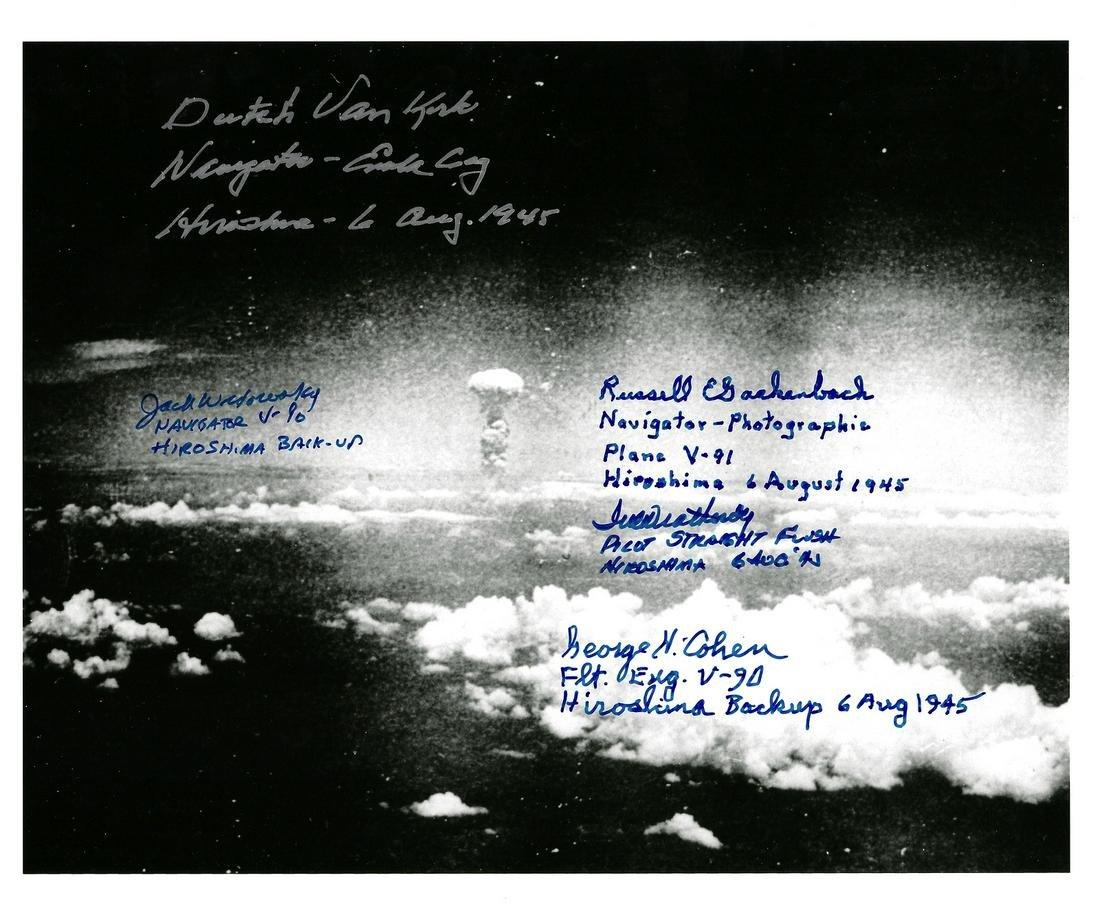 Mushroom Cloud Photo Signed by 5, incl VAN KIRK