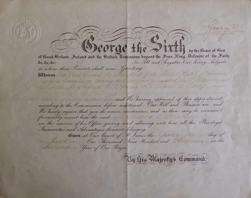British Monarch GEORGE VI - Document