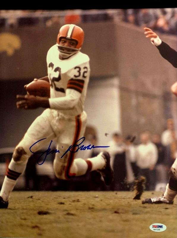 Browns Running Back JIM BROWN - Large Photo