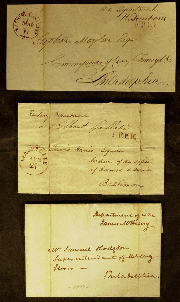 6: GALLATIN, McHENRY & DEARBORN - Covers Signed