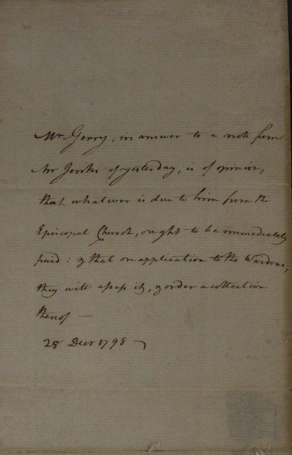 10: Signer ELBRIDGE GERRY - Autograph Ltr Signed