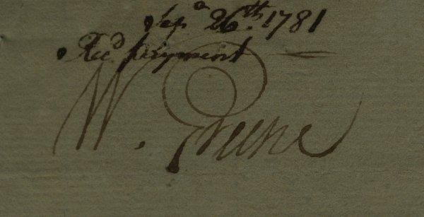 15: RI Governor WILLIAM GREENE - Document Signed