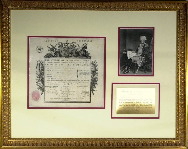 20: General LAFAYETTE - Document Signed and Framed
