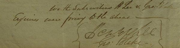 "21: ""Light-Horse Harry"" LEE - Legal Document Signed"
