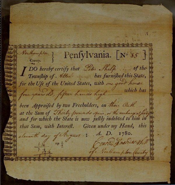 23: PA Politician JOHN NICHOLSON - Rev War Doc Signed