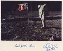610: Moonwalker CHARLIE DUKE - NASA Lunar Photo Signed