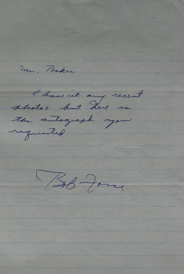 616: Choreographer BOB FOSSE - Autograph Ltr Signed