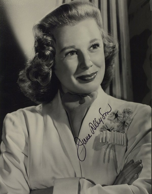 622: Actress JUNE ALLYSON - Vintage Photo Signed