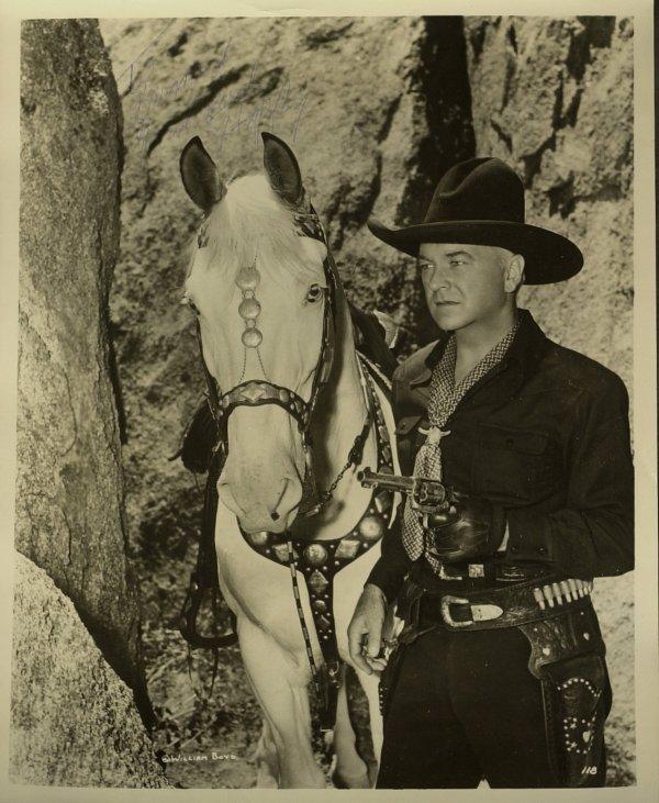 "630: ""Hopalong Cassidy"" WILLIAM BOYD - Photo Signed"