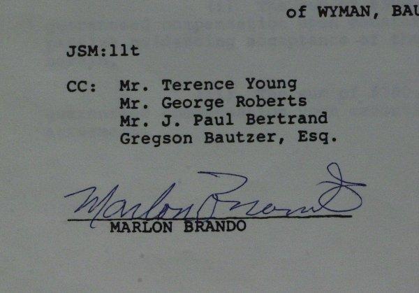 631: Oscar Winning Actor MARLON BRANDO - Doc Signed