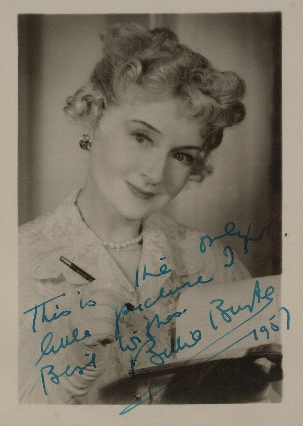 634: Oz Actress BILLIE BURKE - Photo Signed