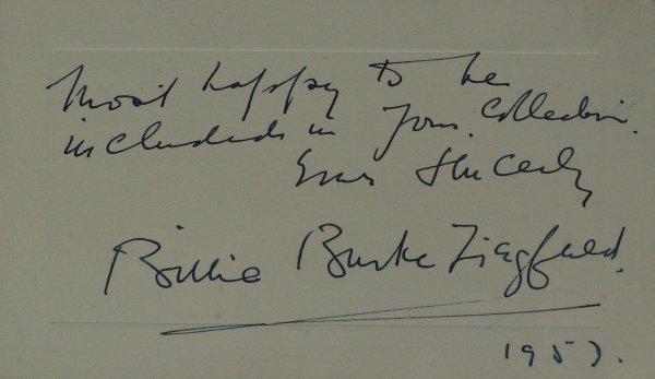 635: Oz Glinda BILLIE BURKE - Autograph Note Signed